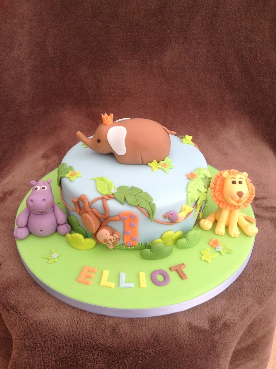 Dairy Free Jungle 1st Birthday Cake Cakecentral