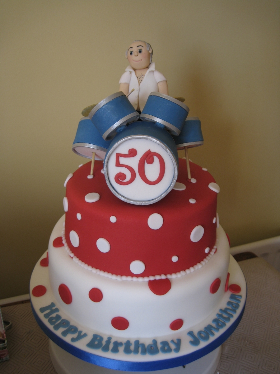 Drummer 50th Birthday Cake Cakecentral
