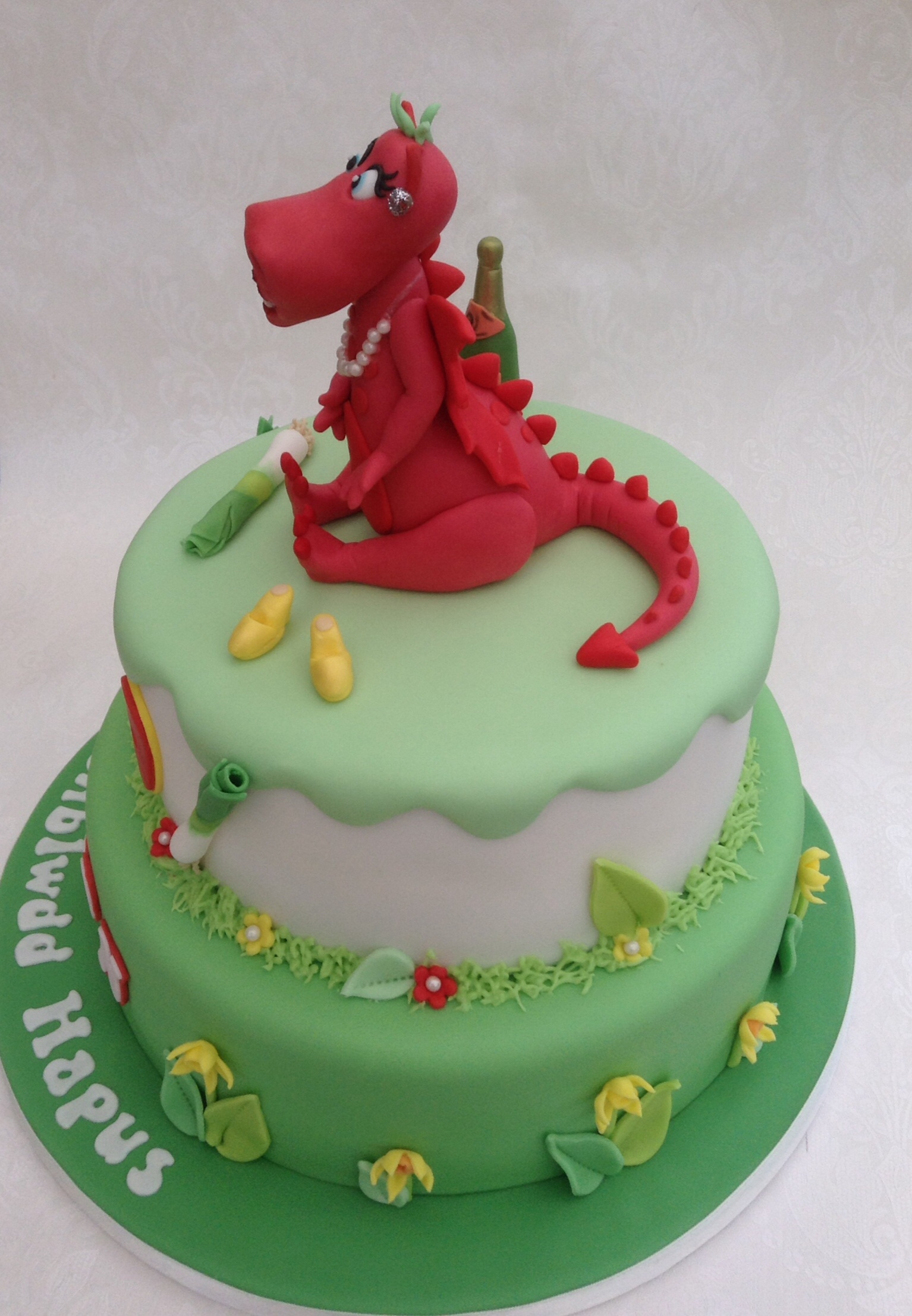 Welsh Themed Dragon Cake CakeCentralcom