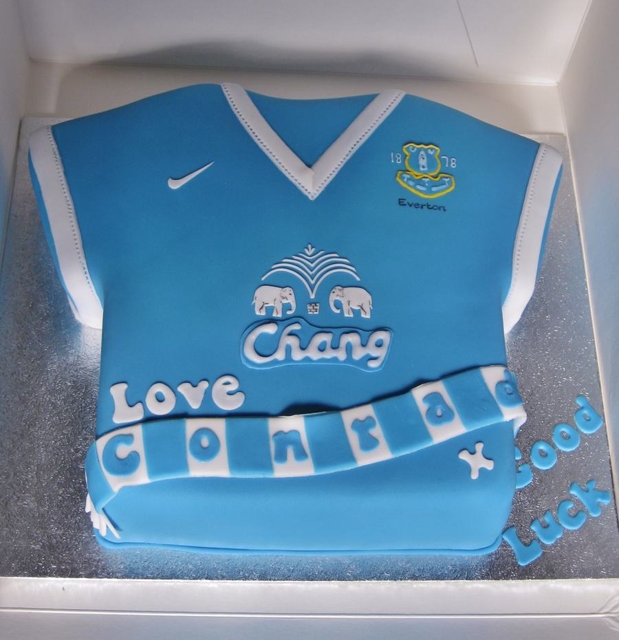Everton Football Shirt on Cake Central
