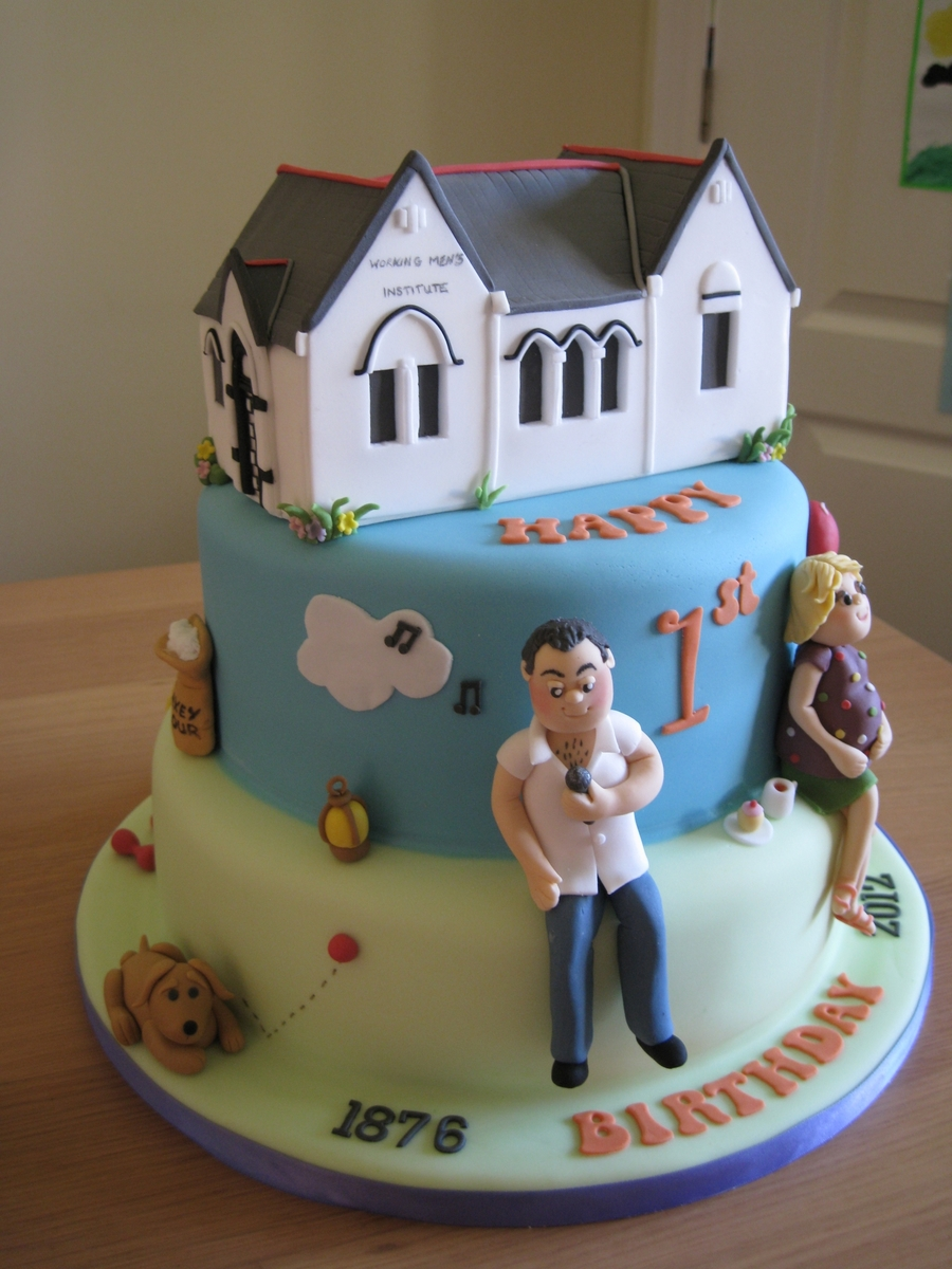 Laxey Institute Anniversary Cake CakeCentralcom