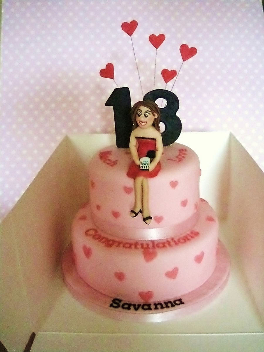 18Th Birthday Cake - CakeCentral.com
