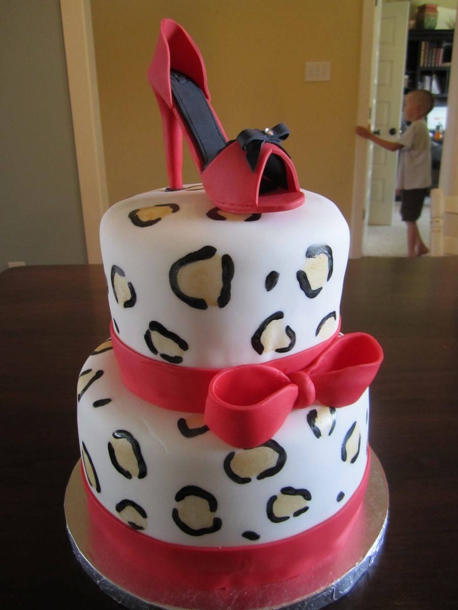 Leopard High Heel Cake