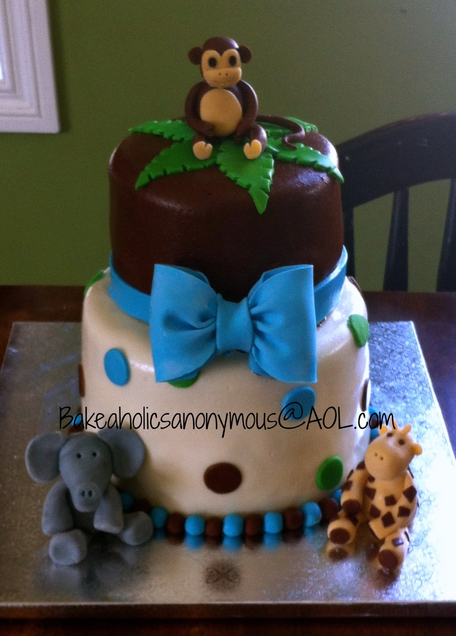 Good Safari Baby Shower Cake For A Boy (Polka Dots ) On Cake Central