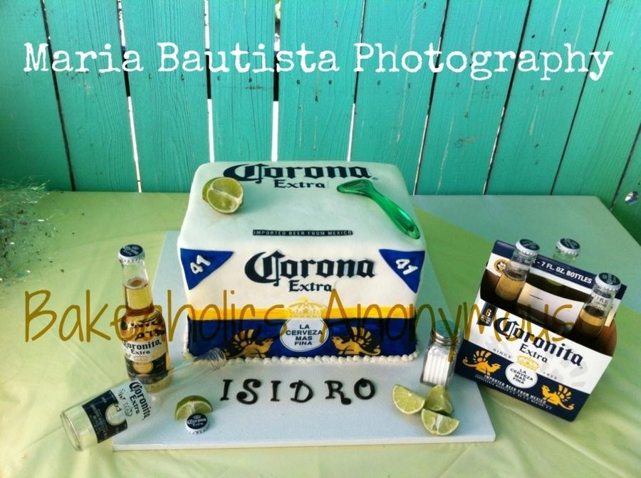 corona beer cake cakecentralcom