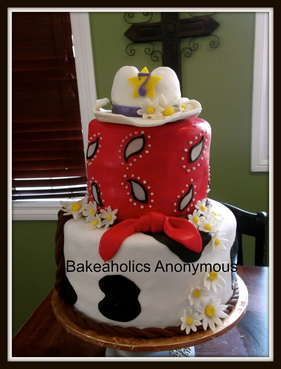 Cowgirl Theme Cake, Country Cake on Cake Central