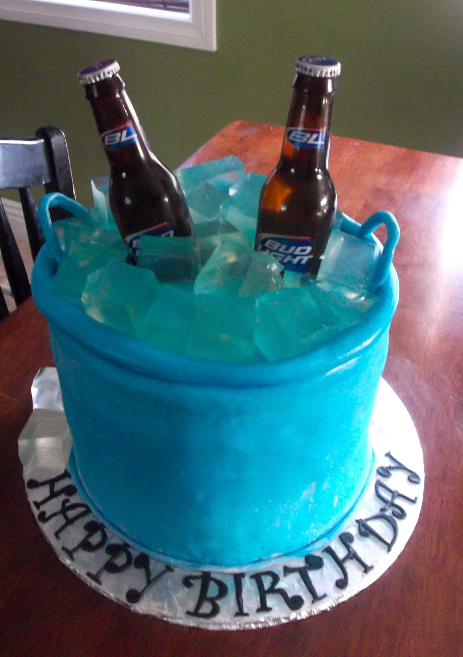 Beer Bucket Birthday Cake
