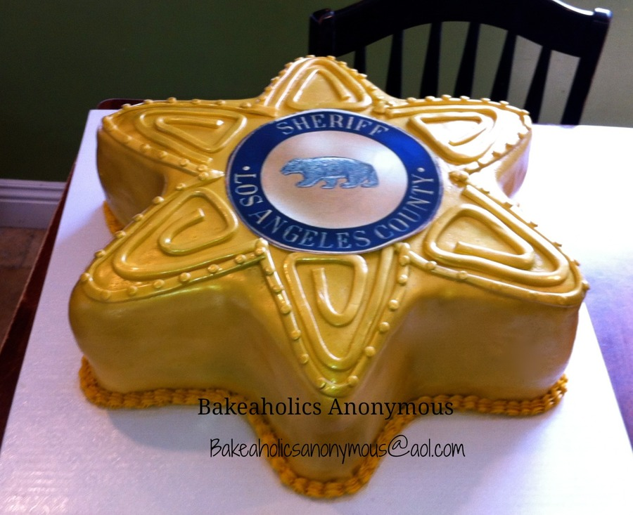 Los Angeles County Sheriff Badge Cake - CakeCentral.com