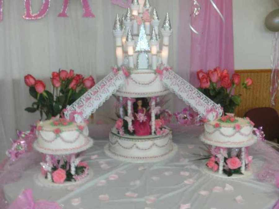 My Daughter's Quincea~Era Cake, By Me. on Cake Central