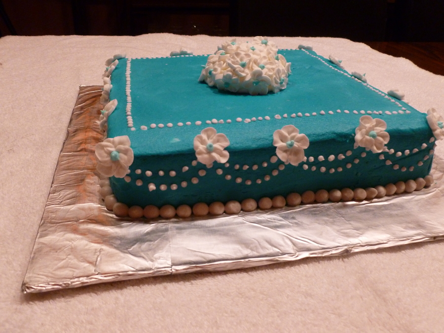 Blue And White Blossoms on Cake Central