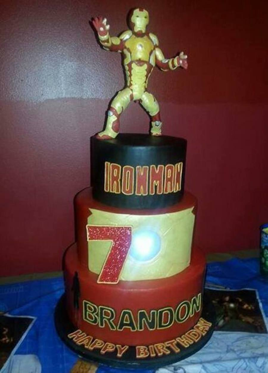 iron man 3 birthday cake