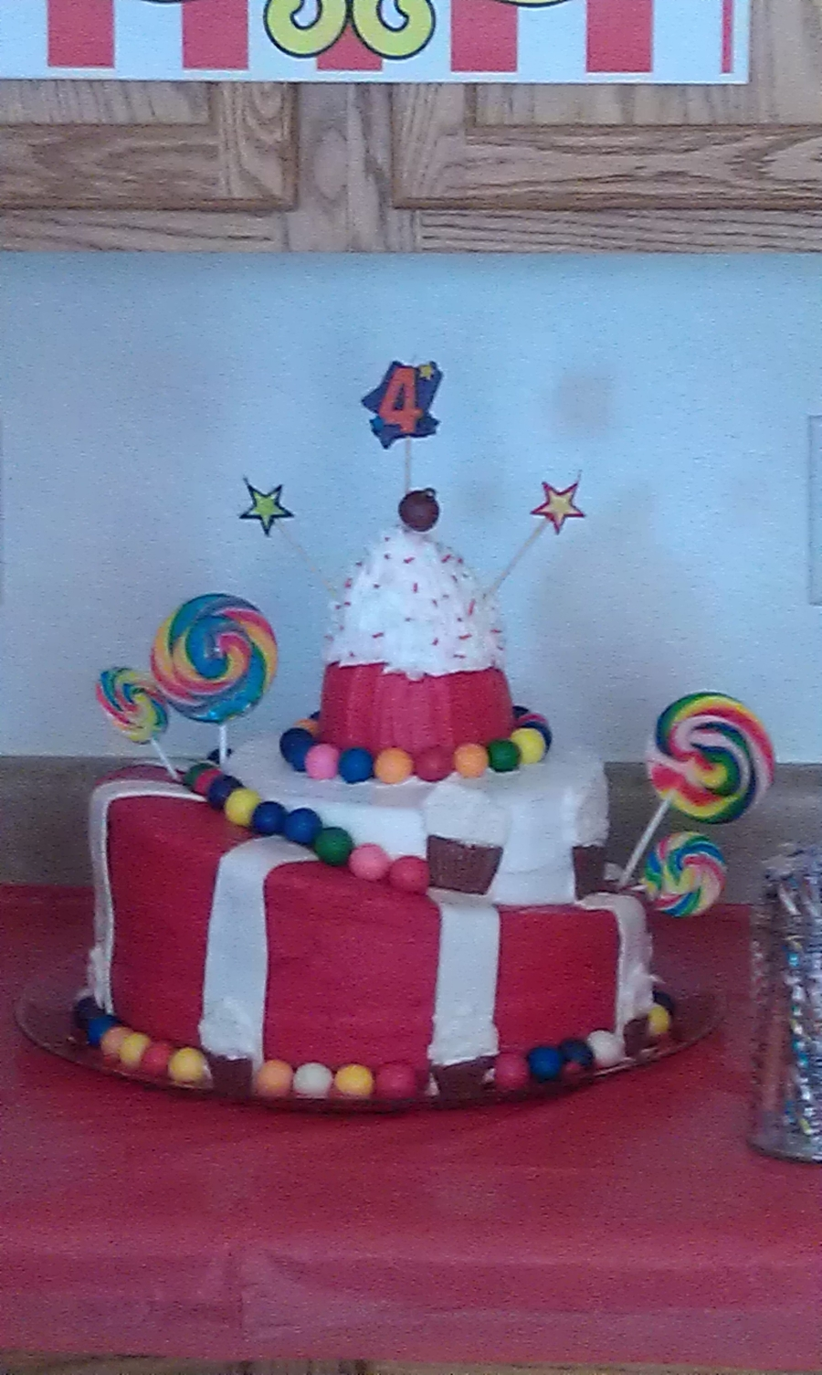 Carnival Themed Topsy Turvy on Cake Central