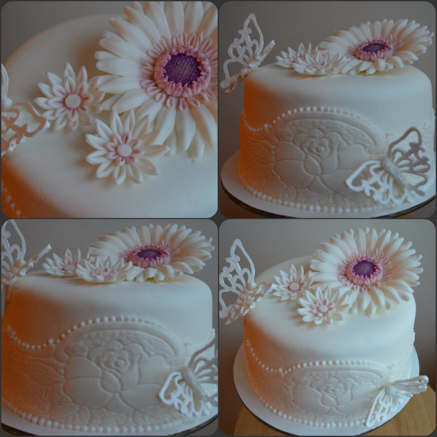 Gerbera And Butterfly on Cake Central