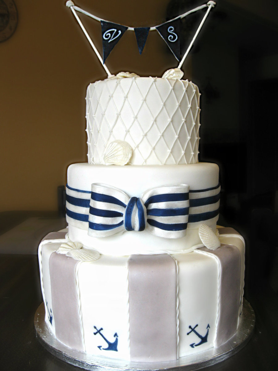 nautical wedding cake ideas nautical wedding cake cakecentral 17734