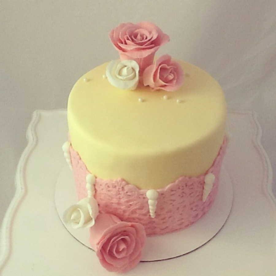 Roses And Lace Birthday Cake Cakecentral