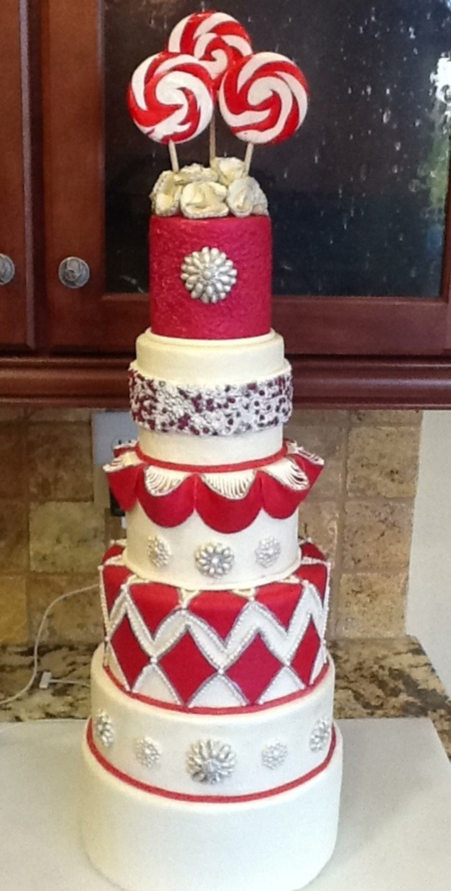 Holiday Wedding Cake on Cake Central