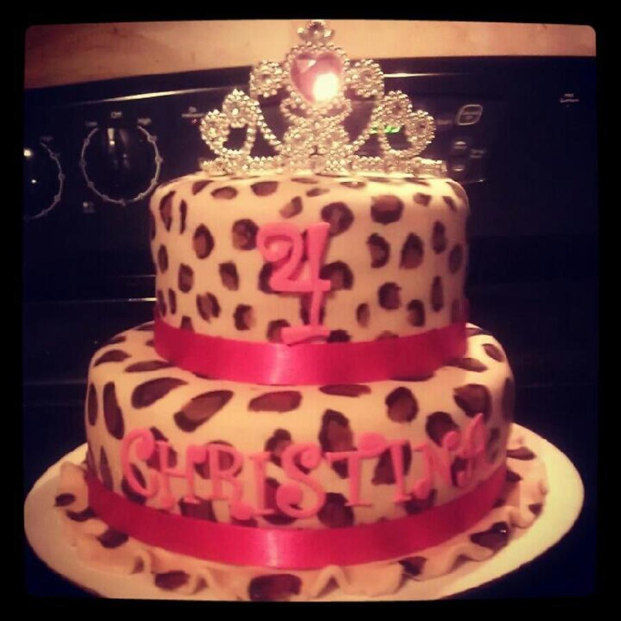 Leopard Princess Cake on Cake Central