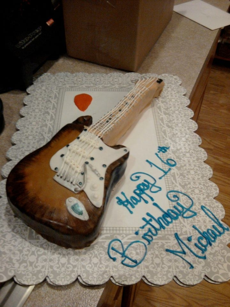 Fender Guitar on Cake Central