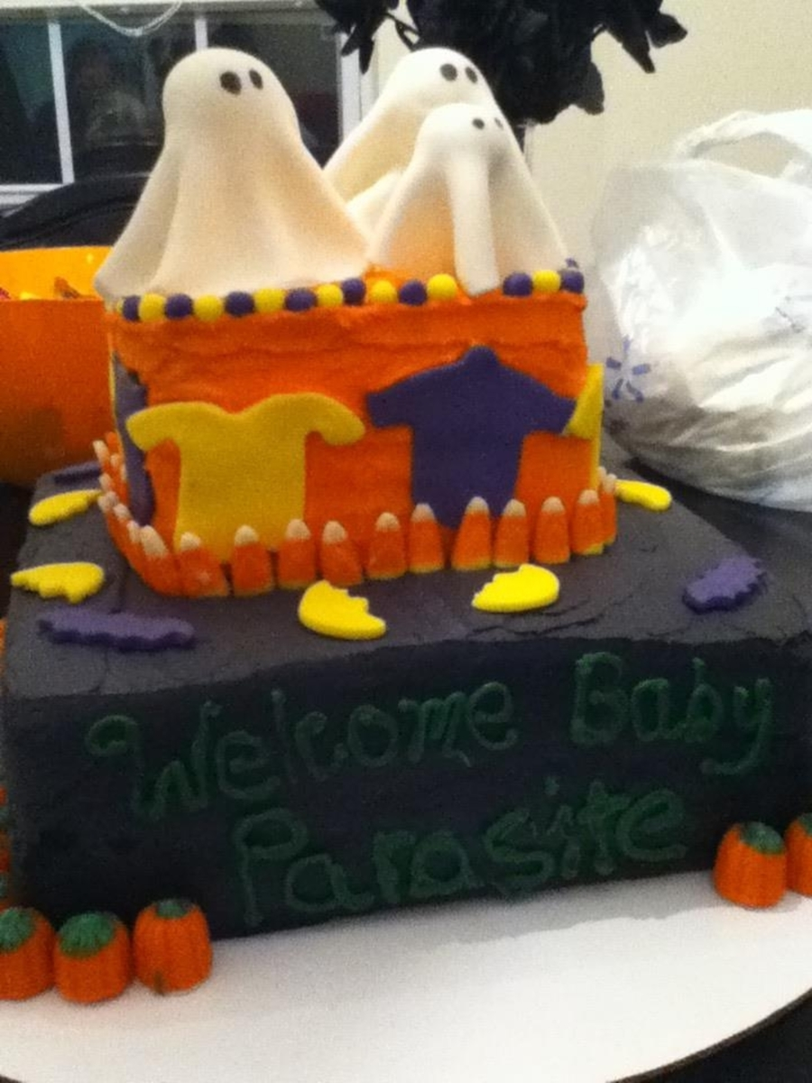 Babyshower/halloween Cake on Cake Central