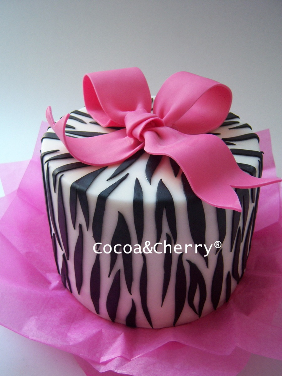 Zebra Birthday Cake on Cake Central