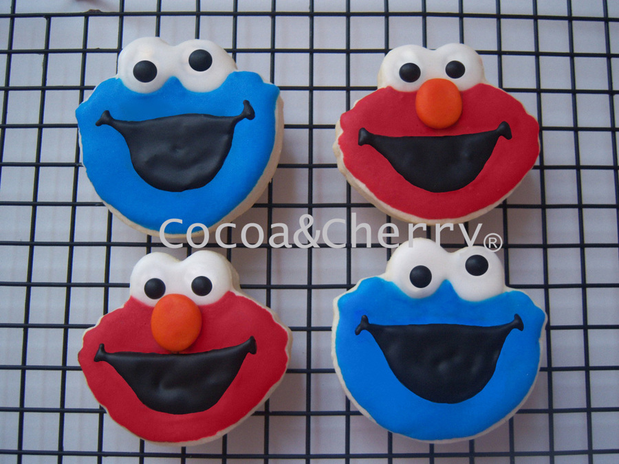 Cookie Monster And Elmo on Cake Central