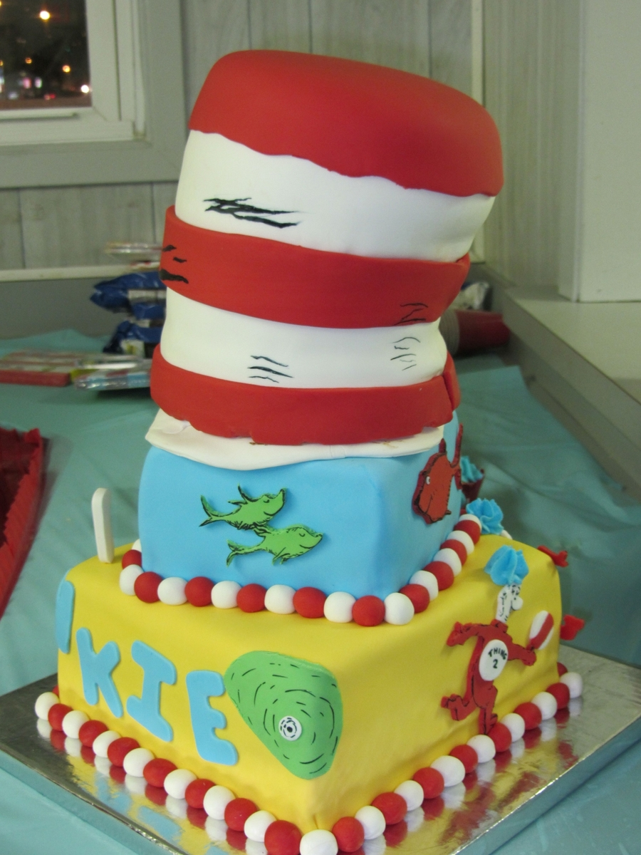 Enjoyable Dr Seuss First Birthday Cake Cakecentral Com Funny Birthday Cards Online Aeocydamsfinfo