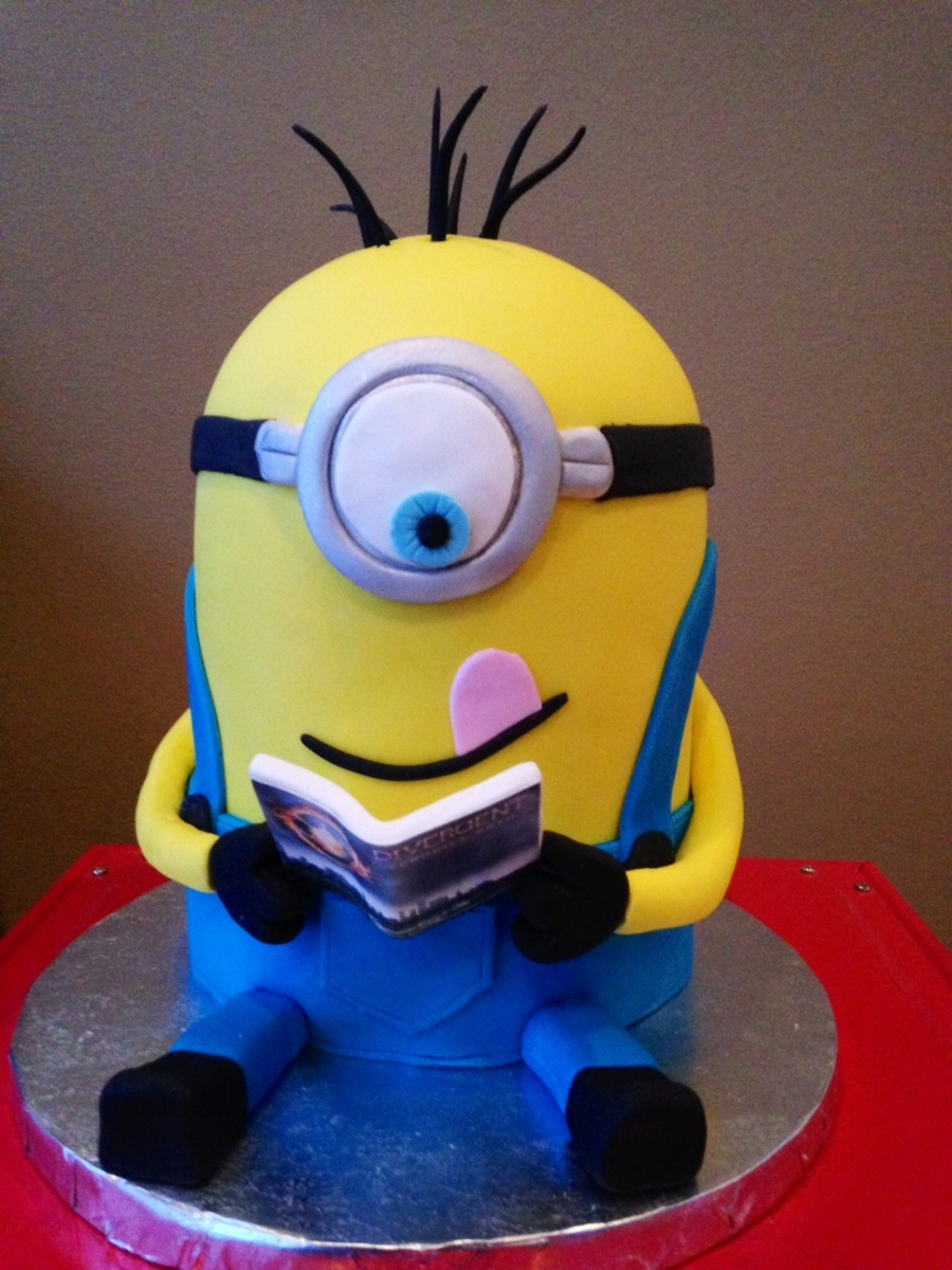 This Birthday Minion Was Reading Divergent A Sweet 12 Year Old Girls Favorite Book On