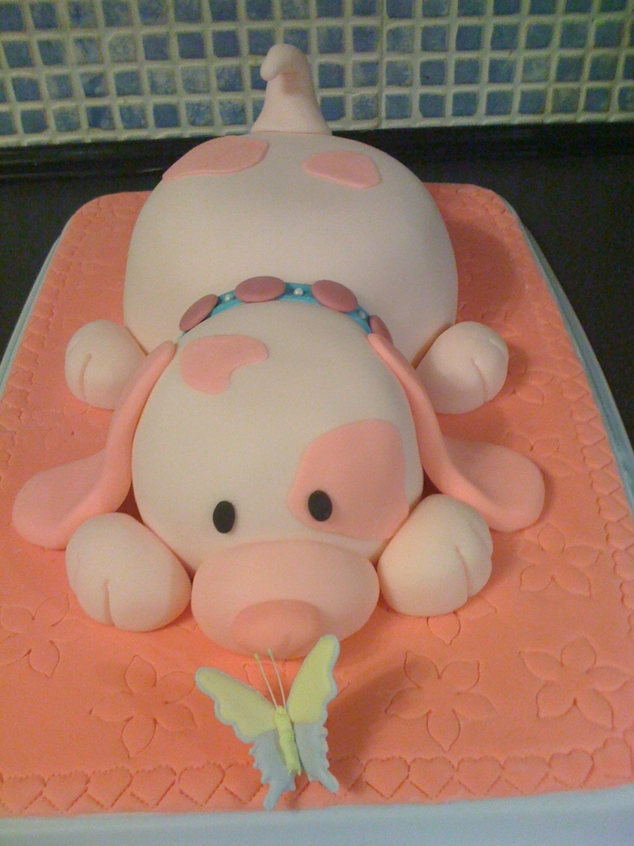 Pink Puppy Cake on Cake Central