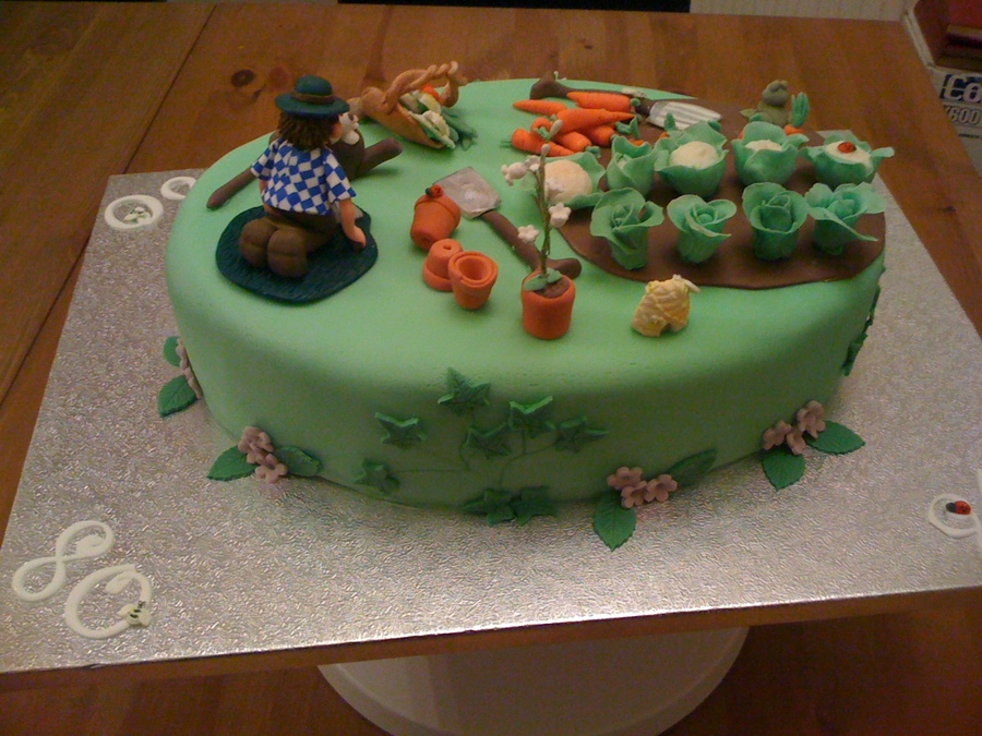 80th birthday garden cake for Gardening 80th birthday cake