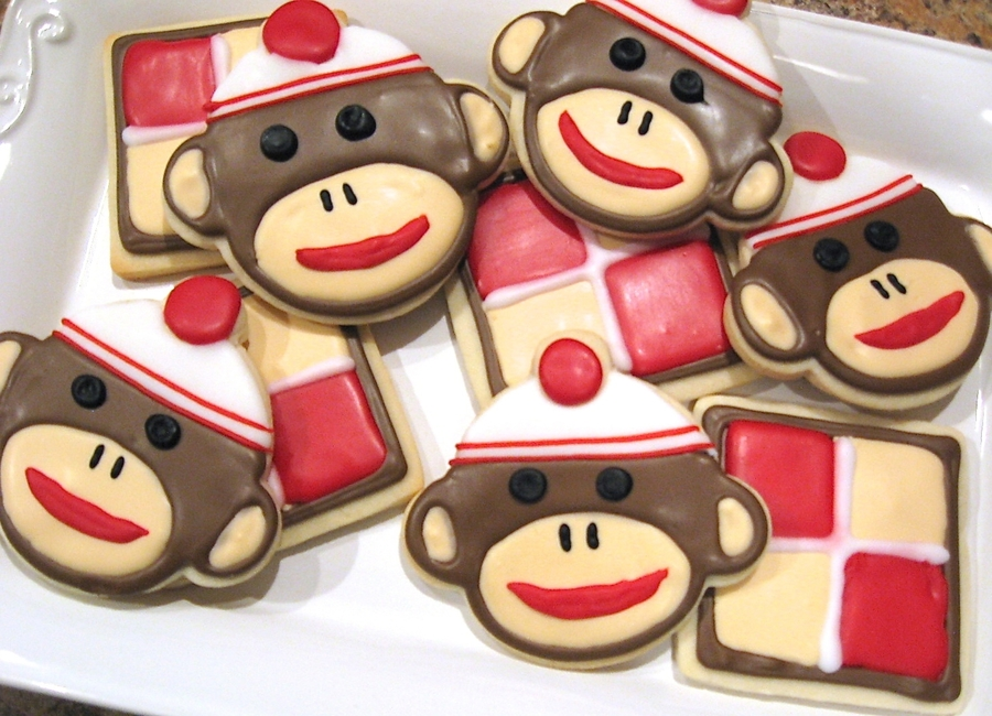 Sock Monkey Cookies! on Cake Central