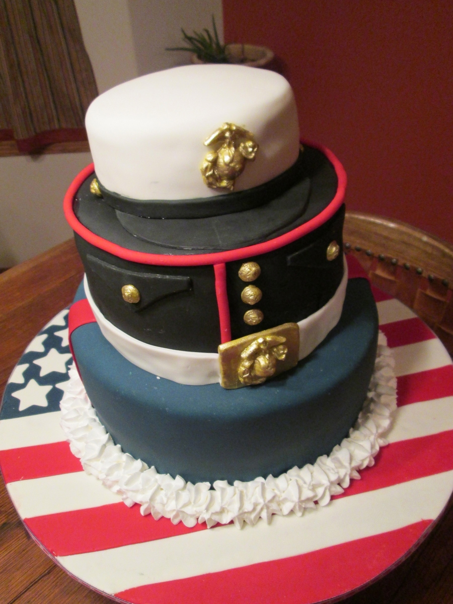 Marine's Uniform Groom's Cake on Cake Central