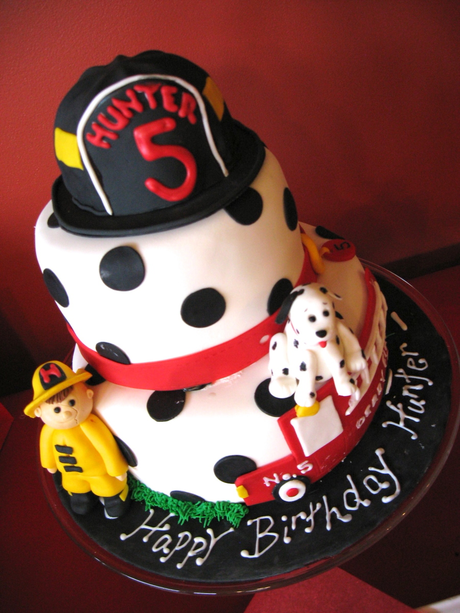 Fireman Birthday Cake  on Cake Central