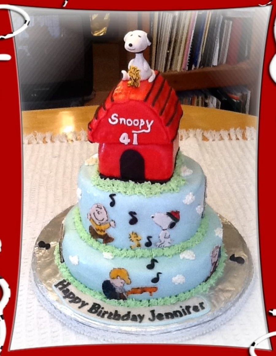 Peanuts Snoopy Cake Cakecentral