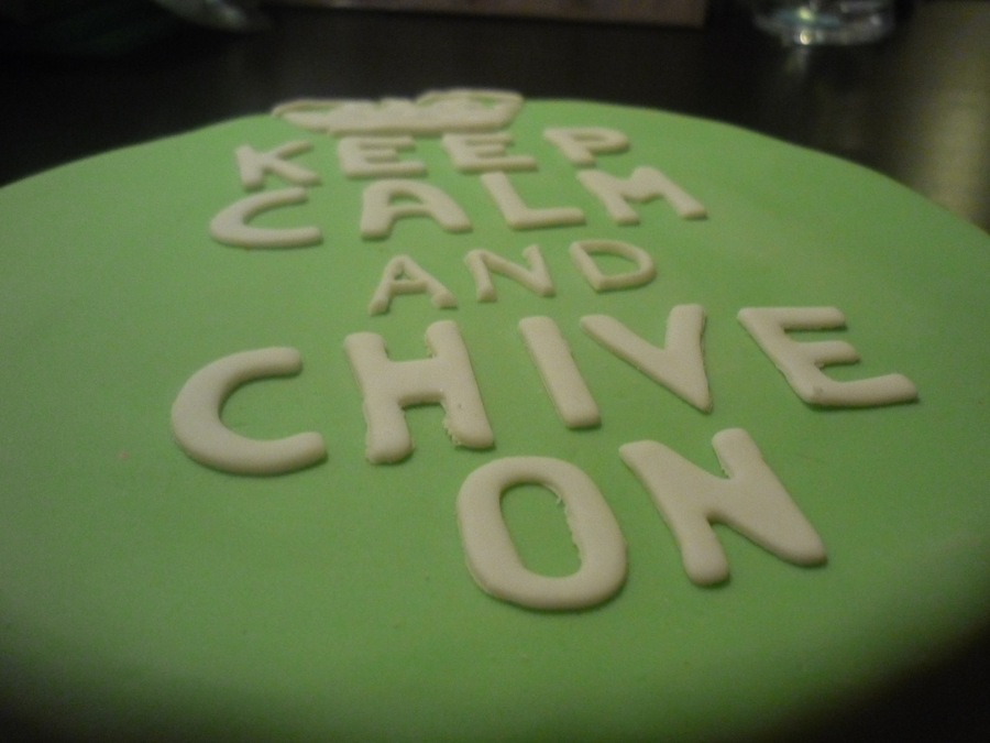 Chive Birthday Cake on Cake Central