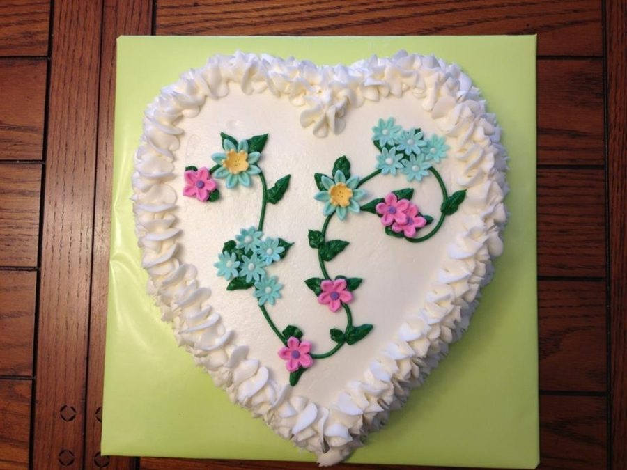 Heart Floral Cake on Cake Central