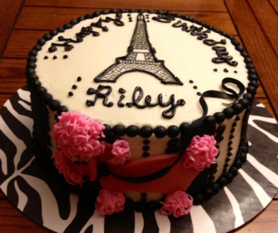 Poodle In Paris on Cake Central