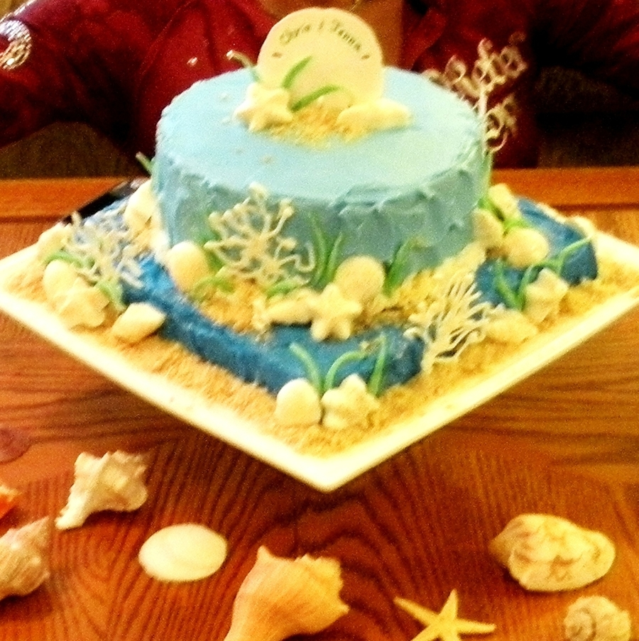 Beach Theme Bridal Shower Cake on Cake Central