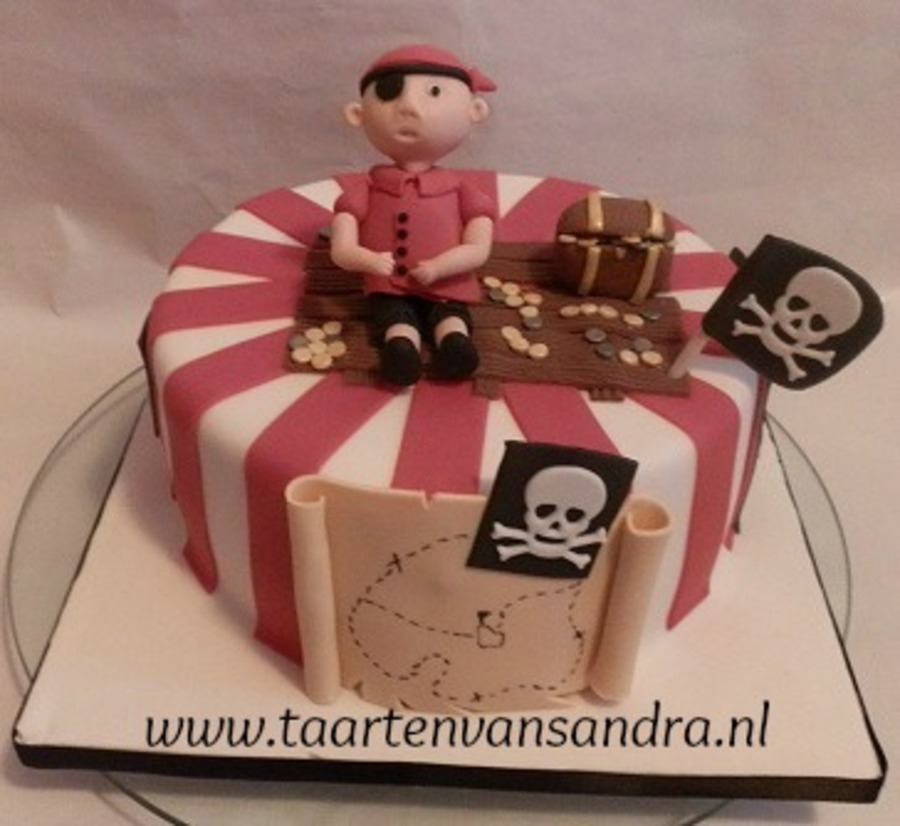 Pirate Cake For A Boy  on Cake Central
