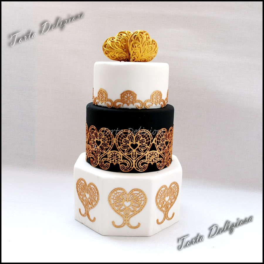 Hearts Of Gold on Cake Central