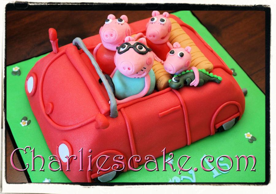 Peppa Pig Family Car Cake Cakecentral
