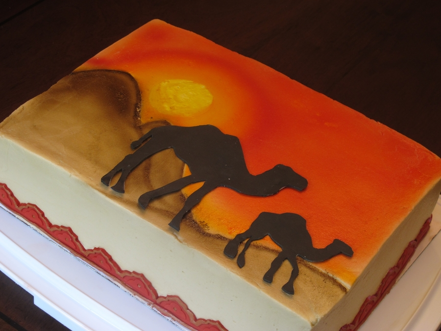 Camels In The Sunset  on Cake Central
