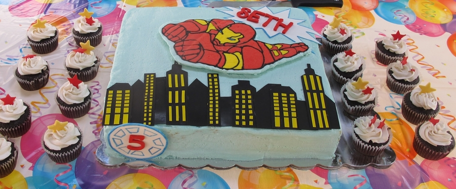 Ironman 5Th Birthday. on Cake Central