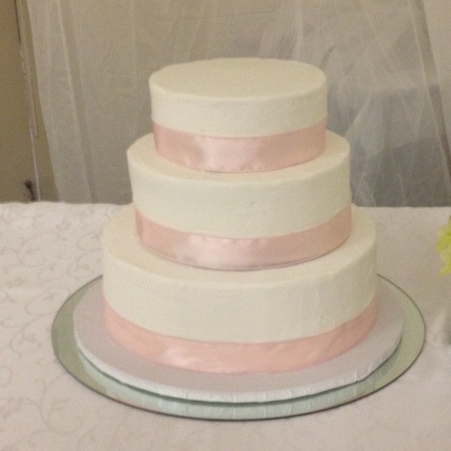 Buttercream Ribbon Wedding Cake