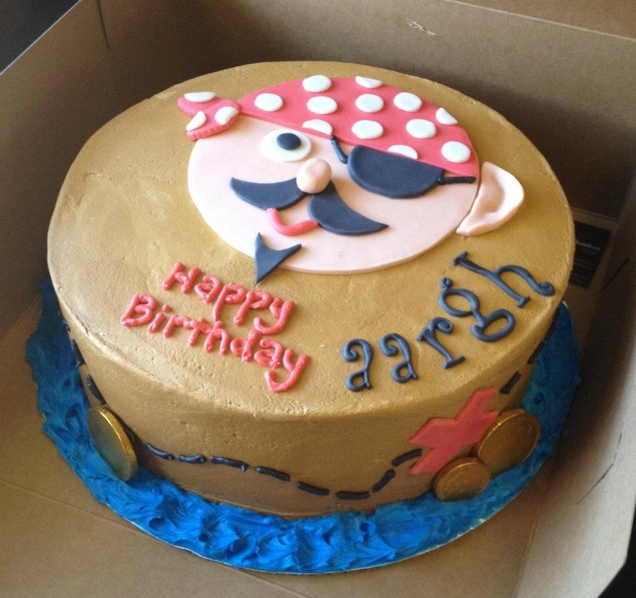 Pirate Themed Cake Decorations : Pirate Cake - CakeCentral.com