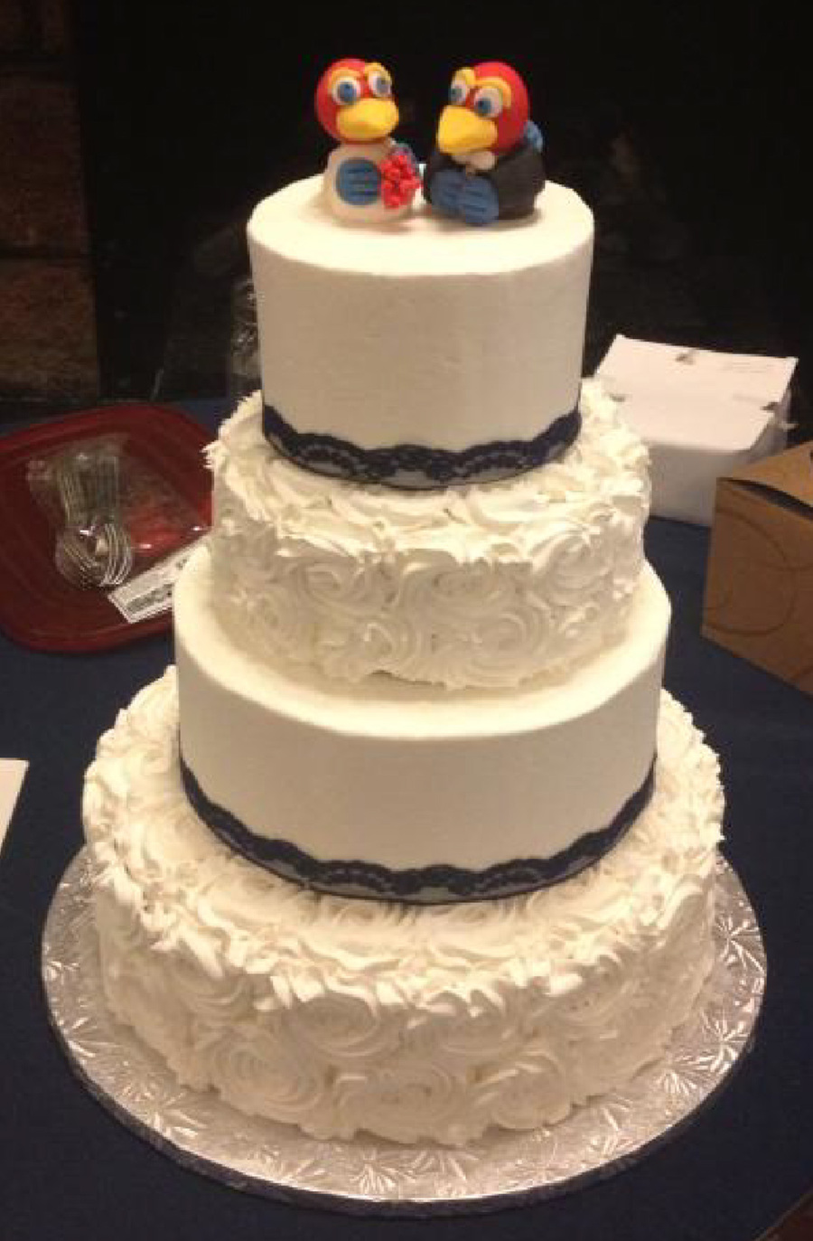 4 Tier Wedding Cake 14 10 8 6 Chocolate With Cookies N Cream Filling And Buttercream Frosting