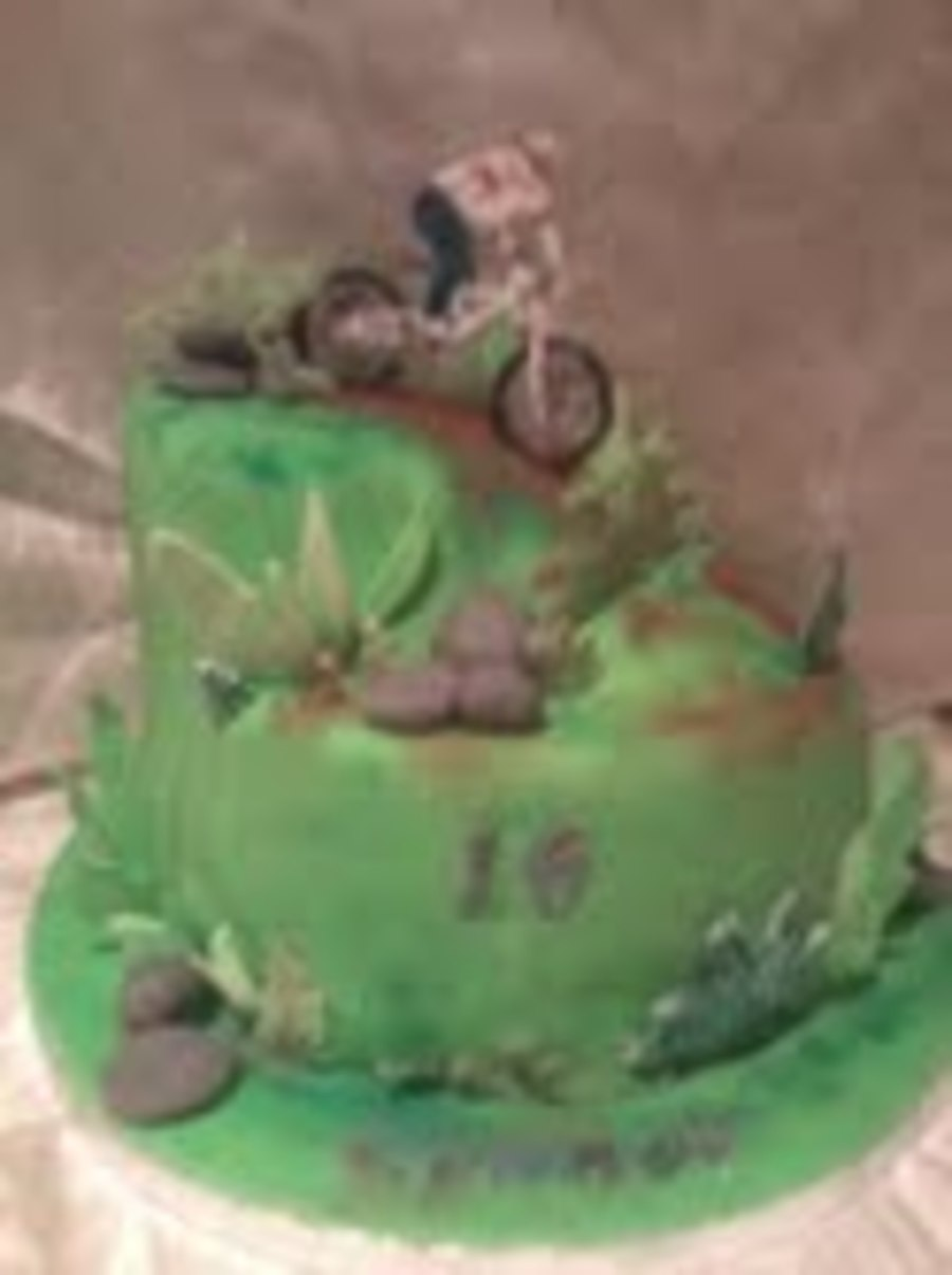 Bicycle Cutter Cake Decorating : Mountain Bike Cake - CakeCentral.com