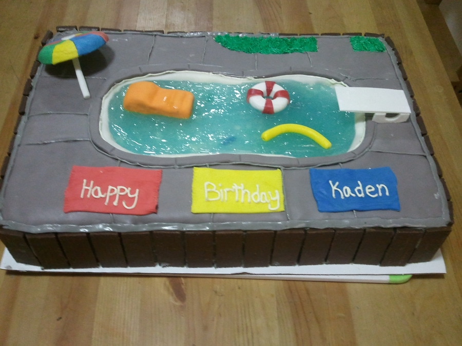 Kids Birthday Pool Cake on Cake Central