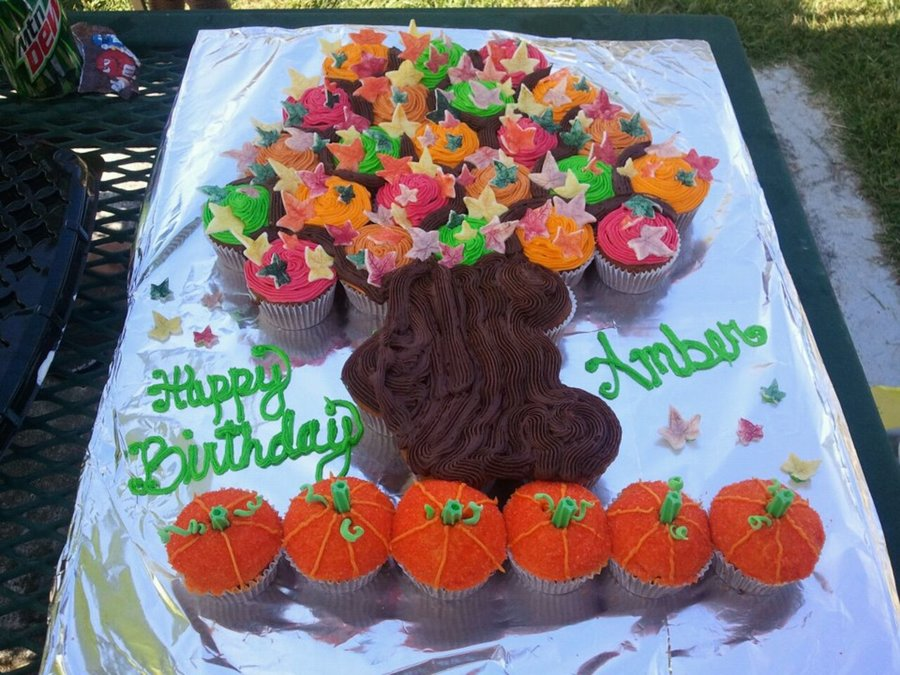 Fall Cupcake Cake on Cake Central