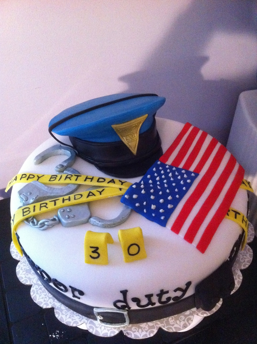 State Trooper Birthday on Cake Central