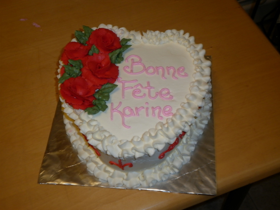 This Was For A Client Who Requested A Marble Heart Shape Cake All